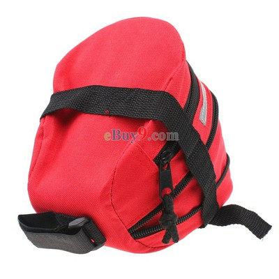 Bicycle Saddle Bag Seat Bag Cycling Outdoor Pouch Extensible Bag -As picture