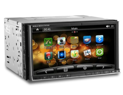 "2 Din 6.95"" TFT Screen Android 2.3 & WinCE 6.0 Dual Core Car In-Dash PC with Wi-Fi, GPS, Analog TV, 1080P HD, iPod Connection-As picture"