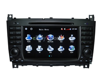 "7"" 2 Din TFT Touch Screen Car DVD Player with Analog TV FM AM Bluetooth RDS AVIN Bluetooth GPS 16 TF Card Support (EMS Shipping)-As picture"