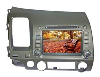 7&quot; Car DVD Player For Honda Civic with GPS IPOD Analog TV Bluetooth RDS AVIN EMS Shipping-As picture