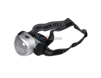 2W 42 LED Ultra Bright Headlight Head Torch (Silver)-As picture