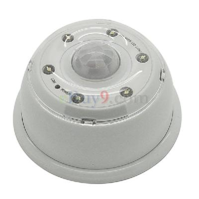 Infrared PIR Sensor 6-LED Light Lamp Motion Detector -As picture