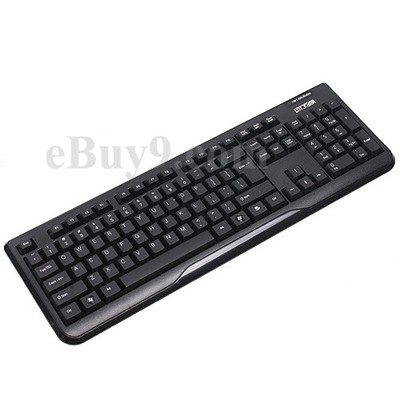 2.4G Waterproof QWERTY Wireless Keyboard 1000/1600DPI Optical Mouse-As picture