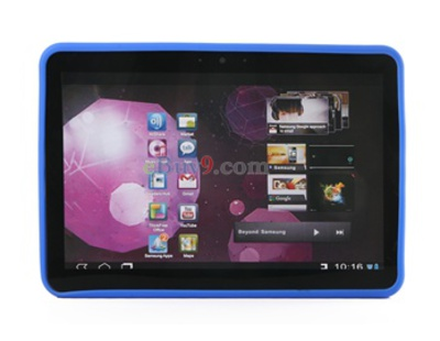 "10.1"" Silicone Case for SUMSUNG GALAXY TAB P7100 (Blue)-As picture"