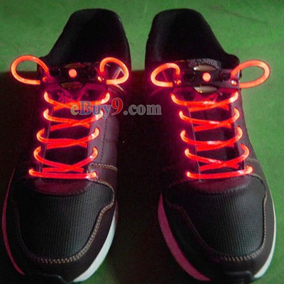 LED Light Up Shoes Shoelaces Luminous Shoestring Red Light-As picture