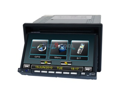 "Double Din In-Dash 7.0"" Touch Screen Car DVD Player with TV FM AM Bluetooth EMS Shipping-As picture"