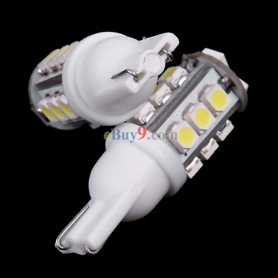 2 Pcs T10 White 15 3528 SMD LED Car Indicator Light Bulb-As picture