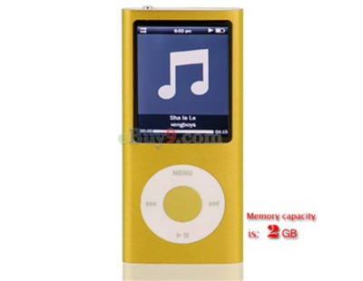 High Quality 2GB MP4 Player with Camera, FM and Voice Recorder}-yellow