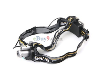 2 Mode White Light LED Headlight Headlamp (Silver)-As picture