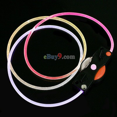 LED Light Up Flashing Shoelaces Shoestrings Light Pink + White-As picture