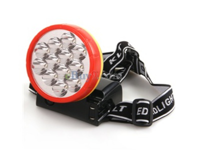 Super Bright 900mAh 12LED 2-Mode Wiederaufladbarer Scheinwerfer mit verstellbarem Stap-wie Bild
