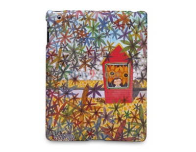 Open-Face Style Jimmy Frosted Hard Back Cover Case for Apple iPad 2-As picture