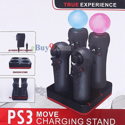 PS3 MOVE Remote Controller Charging Stand 4-Sockets US/EU-As picture