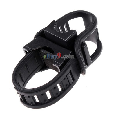 Black Cycling Bike Bicycle Front light Clip Rotational Flashlight Holder Torch Bracket-As picture
