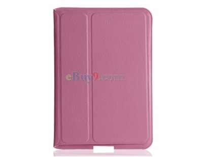 Super Slim Leather Protective Case for Samsung Galaxy Tab P6800, P6810 (Pink)-As picture