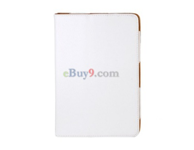 Faux Leather Folding Blackberry PlayBook Case (White)-As picture