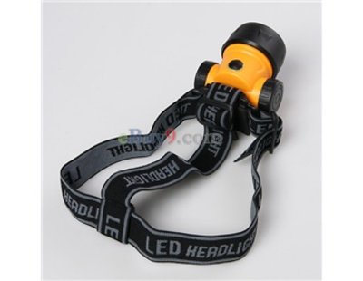 1W LED Headlamp Head Torch Light (Orange)-As picture