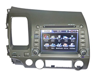7&quot; Car DVD Player For Honda Civic with GPS IPOD ISDB-T Bluetooth RDS AVIN EMS Shipping-As picture