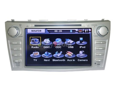 8&quot; Car DVD Player For Toyota Camry with GPS IPOD ISDB-T Bluetooth RDS AVIN EMS Shipping-As picture