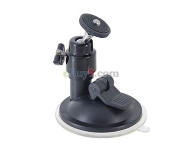 All-Direction Adjustable Camera Mount with a Suction-Up Bottom (Black)-As picture