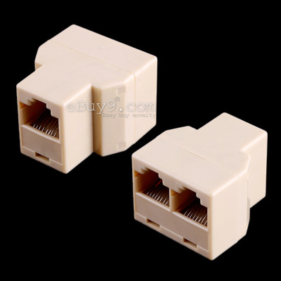 View Larger Image RJ45 3 Way Network Cable Splitter Extender Plug Coupler-As picture