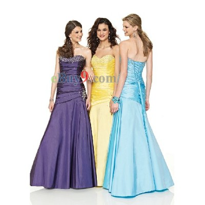 Sweetheart Sleeveless Taffeta Evening / Prom Dress-As picture