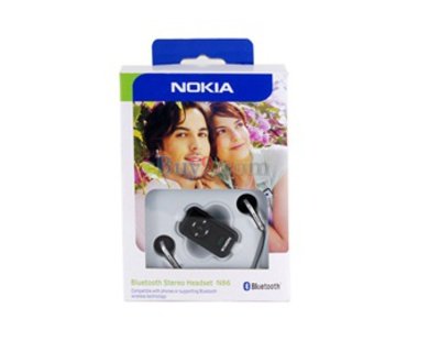 Stereo Bluetooth Headset for Nokia N86 (Black)-As picture