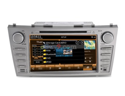 "8"" 2 Din Car PC DVD Player for Toyota Camry 2008-2011 with WiFi 3G ISDB-T IPOD GPS Bluetooth RDS PIP EMS Shipping-As picture"