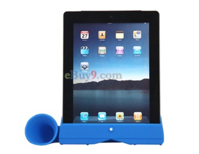 Stylish Acoustic Horn Stand Amplifier Speaker for iPad2 (Blue)-As picture