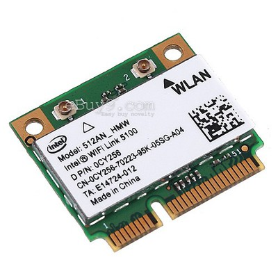 Half Mini Intel 5100 WiFi PCI-E Wireless Card for IBM X200 X300 X301 X400-As picture
