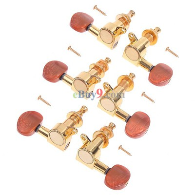 Golden Guitar String Tuning Pegs Tuners Machine Heads-As picture