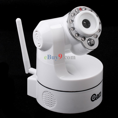 Wireless IP Camera WiFi IR Nightvision P/T 2-Audio White-As picture