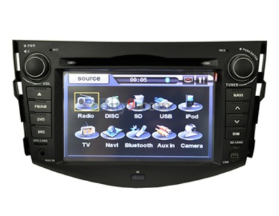 7&quot; Car DVD Player For Toyota RAV4 with GPS IPOD DVB-T Bluetooth RDS AVIN EMS Shipping-As picture