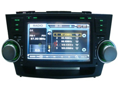 8&quot; Car DVD Player For Toyota Highlander with GPS IPOD Analog TV Bluetooth RDS AVIN EMS Shipping-As picture