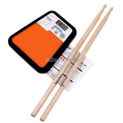 Flanger Digital Drummer Training Drum Practice Pad Metronome-As picture