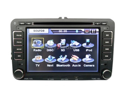 7&quot; Car DVD Player for Volkswagen Sagitar with GPS IPOD DVB-T Bluetooth RDS AVIN E-book EMS Shipping-As picture