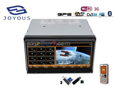 "6.95"" Touch Screen Car PC DVD Player with GPS, iPod, Wi-Fi/3G, and ATSC-As picture"