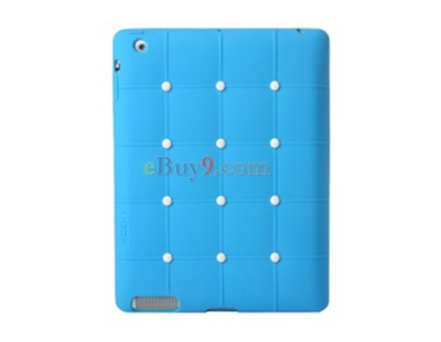 CDN Check Pattern Silicone iPad 2 Case (Blue)-As picture