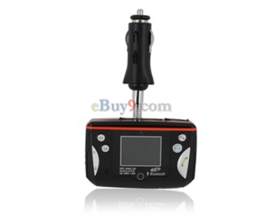 Bluetooth Car MP3/MP4 FM Transmitter (Black)-As picture