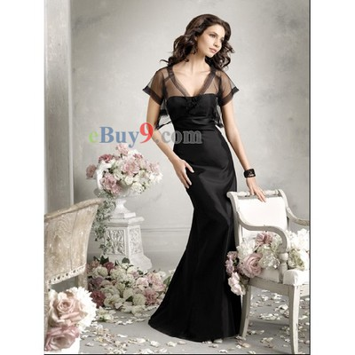 A-line Strapless Sleeveless Satin Bridesmaid/ Wedding Party/ Evening Dress-As picture