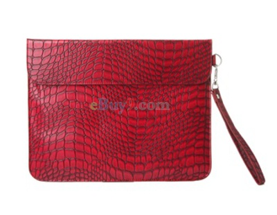 PU Leather Case Bag for iPad 2 (Red)-As picture