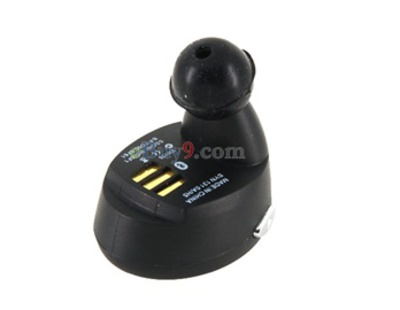 Bluetooth Earplug Mini Blue for Motorola H5 (Black)-As picture