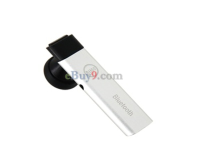 BH-60 Mini Ultra-slim Portable Wireless Bluetooth Headset with Speaker Microphone (Silver)-As picture