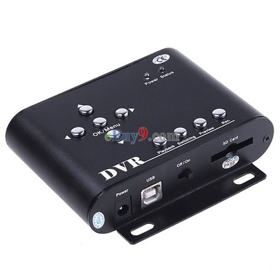 2CH Car Security Mini DVR SD Video/Audio CCTV Recorder-As picture