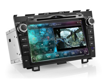"8.0"" 2 Din Car PC DVD Player For Honda CRV with WiFi 3G Analog TV IPOD GPS Bluetooth RDS AVIN PIP EMS Shipping-As picture"