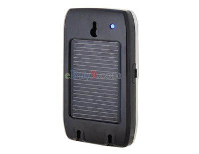 Solar Powered Multipoint Bluetooth Speakerphone (Black)-As picture