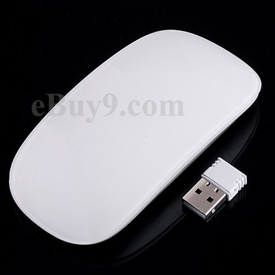 Ultrathin 2.4G Wireless RF Mouse with Touch Mouse Wheel & Receiver-As picture