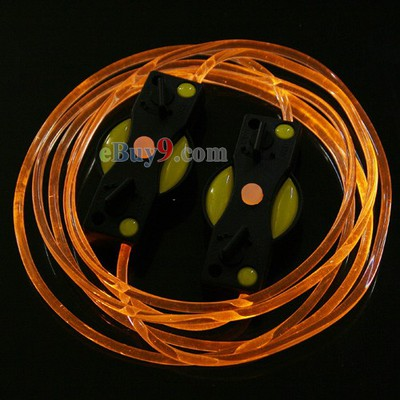 LED Light Up Shoes Shoelaces Luminous Shoestring Yellow Light-As picture