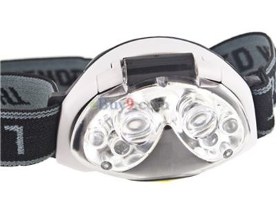 Multi-functional LED Head Lamp (Black)}-As picture