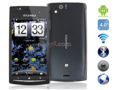 4,0 OLED Kapazitive Android 4,0 3G-Smartphone mit WI-FI , JAVA, TV (schwarz)-schwarz